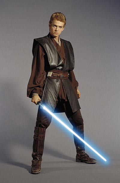 A picture of an older, but still yuong, Anakin