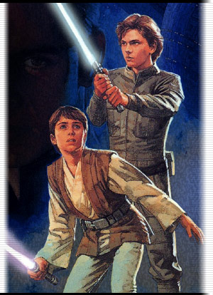 Jacen protecting his younger brother, Anakin