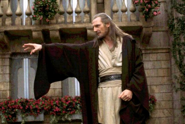 Qui-Gon Jinn using the force