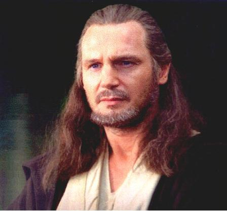 Closeup of Qui-Gon Jinn