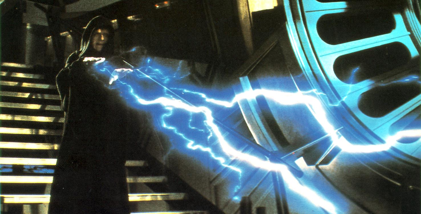 Palpatine using dark-side lightning